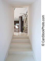 moderno, casa, interno