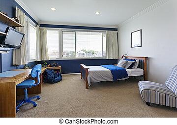 moderno, childrens, dormitorio