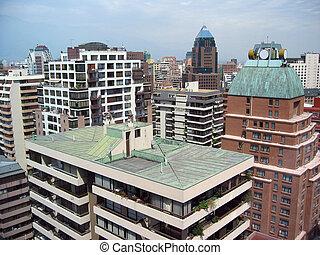 moderno, cityscape, de, santiago, de, chile