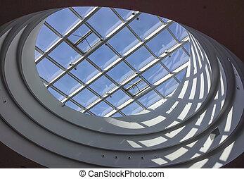 moderno, claraboya, techo
