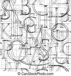 Carta Da Parati Lettere Alfabeto.Moderno Classico Modello Carta Da Parati Seamless Alfabeto