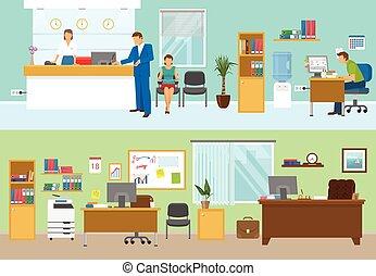 moderno, compositions, ufficio