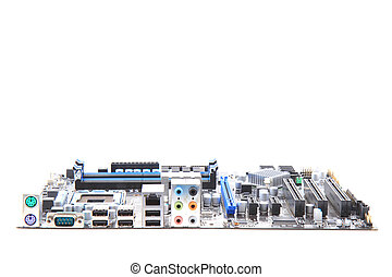 moderno, computer, mainboard, (motherboard)