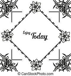 moderno, cornice, carta da parati, illustrazione, vettore, vario, fiore
