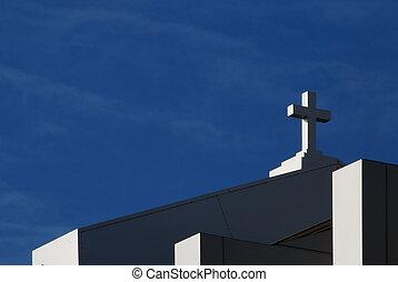 moderno, cruz de la iglesia