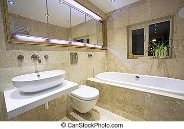 moderno, cuarto de baño, 2