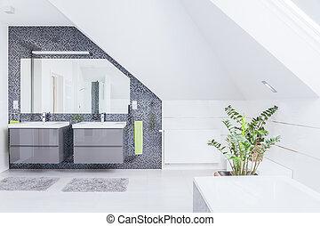 moderno, cuarto de baño, diseño
