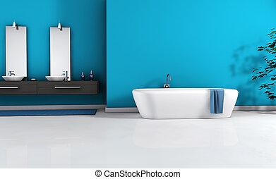 moderno, cuarto de baño, interior
