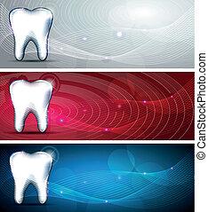 moderno, dental, diseños