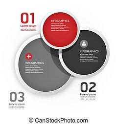 moderno, diseño, círculo, plantilla, /, lata, ser,...