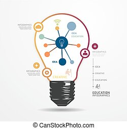 moderno, diseño, luz, punto, mínimo, estilo, infographic,...