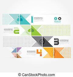 moderno, diseño, mínimo, estilo, infographic, template.can,...