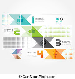 moderno, disegno, minimo, stile, infographic, template.can,...