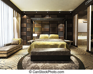 moderno, dormitorio