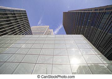 moderno, edifici.
