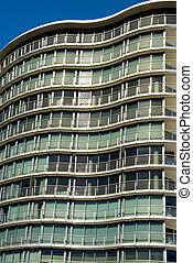 moderno, edificio apartamento