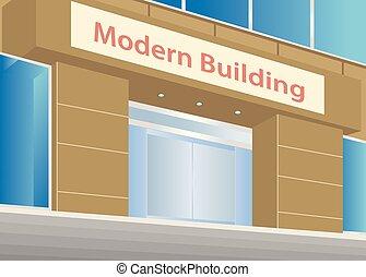 Edificio oficina empresa negocio moderno negro for Oficinas ocaso