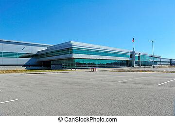 moderno, edificio industrial