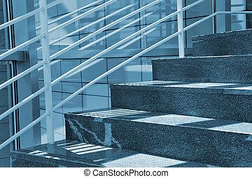 moderno, escaleras