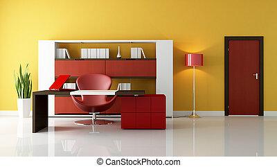 moderno, espacio de la oficina