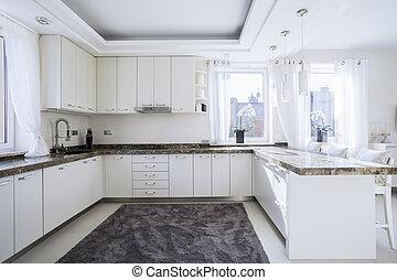 moderno, espacioso, cocina