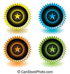 moderno, estrella, icono