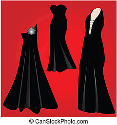 moderno, formal, vestidos