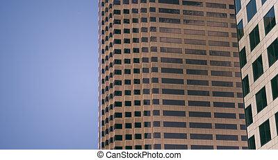 moderno, genérico, rascacielos
