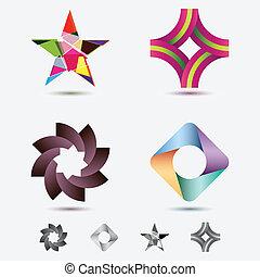 moderno, iconos