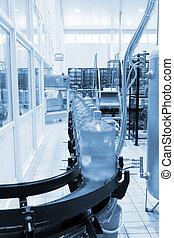 moderno, industrial, tienda, en, el verter, agua mineral