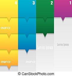 moderno, infographics, opzioni, banner.