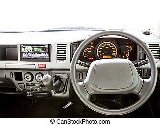 moderno, interior de automóvil