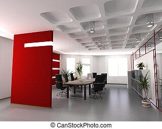 moderno, interior de la oficina