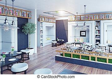 moderno, interior del restaurante