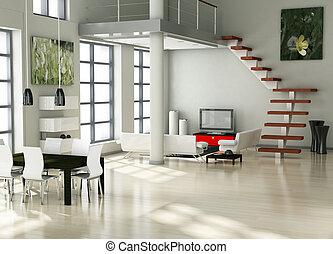 moderno, interior