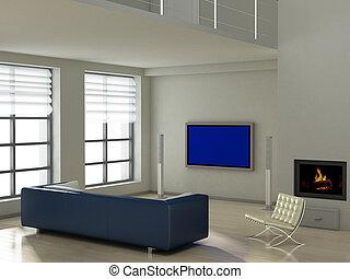 moderno, interno