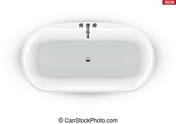 moderno, isolato, bagno