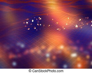 moderno, linee, connettere, fondo, fluente, tecnologia, 3d