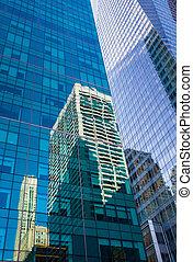 moderno, manhattan, arquitectura