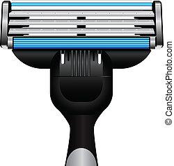 moderno, maquinilla de afeitar