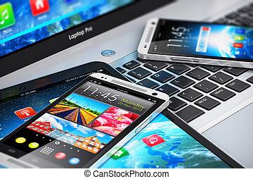 moderno, mobile, congegni