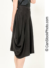 moderno, moda, falda