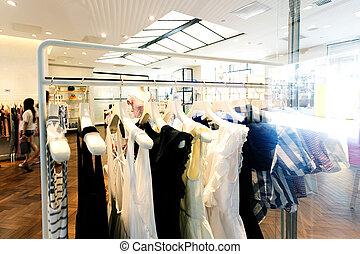 moderno, moda, tienda, interior