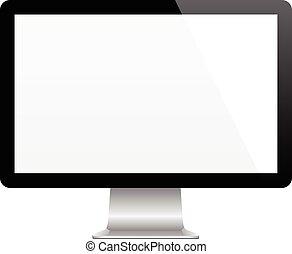 moderno, monitor de la computadora