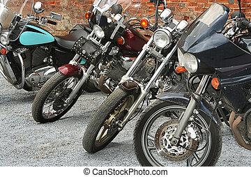 moderno, motocicletas