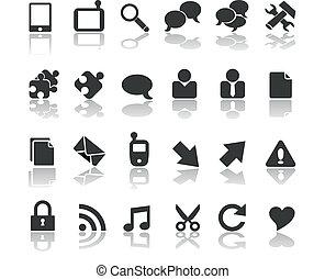 moderno, nero, collezione, affari