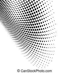 moderno, nero, punteggiato, disegno