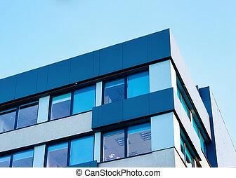 moderno, nuevo, negocio corporativo, edificio de oficinas, concepto, con, espacio de copia