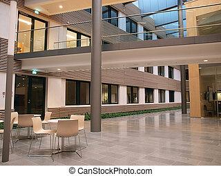 moderno, oficina, él, corporativo, interior