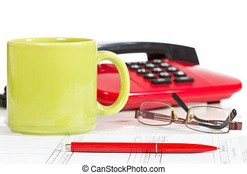 moderno, oficina, escritorio